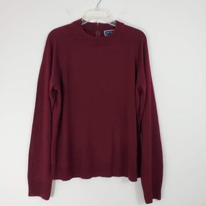 Karen Scott Mock Neck Sweater Merlot - NWT